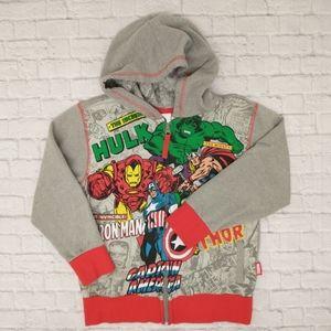Marvel Boys 5/6 Zipup Hooded Sweatshirt